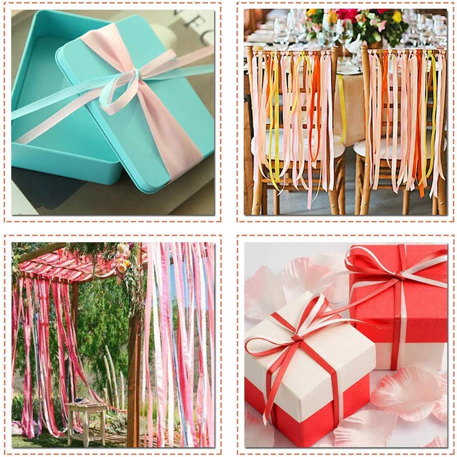 WedDecor Baby Pink Double Sided Satin Ribbon Roll Gift Wrapping Birthday Bows Arts and Crafts 10mm x 25m Decoration for Wedding Clothing Reel of Polyester Fabric for Sewing Dresses