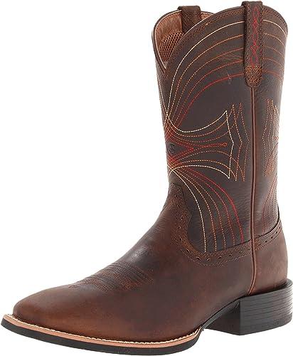 ARIAT - Chaussures Sport Western Western à Bouts carrés Larges pour Hommes, 46 M EU, Distressed marron