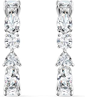SWAROVSKI Women's Tennis Deluxe Jewelry Collection, Rhodium Finish, Rose Gold Finish, Clear Crystals