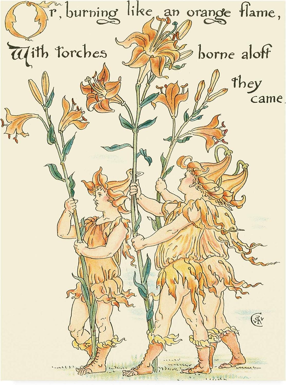 Trademark Fine Art WAG16424C1419GG Shakespeares Garden VIII (Lily) by Walter Crane, 14x19
