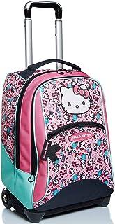 Big Trolley Hello Kitty, Fabulous, rosa y azul, correas para uso mochila, escuela y viaje