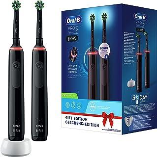 Oral-B PRO 3 3900 Elektrische tandenborstel/elektrische tandenborstel, dubbelverpakking, met 3 poetsmodi en visuele 360° d...