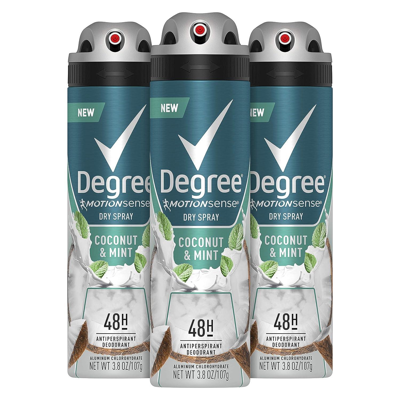 DEGREE Men Antiperspirant Deodorant Time sale 48-Hour Oakland Mall Mint Spray Coconut