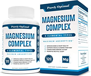 Premium Magnesium Complex - Magnesium Citrate, Malate, Taurate, Oxide, Aspartate, Bisglycinate Chelate TRAACS - Max Absorp...