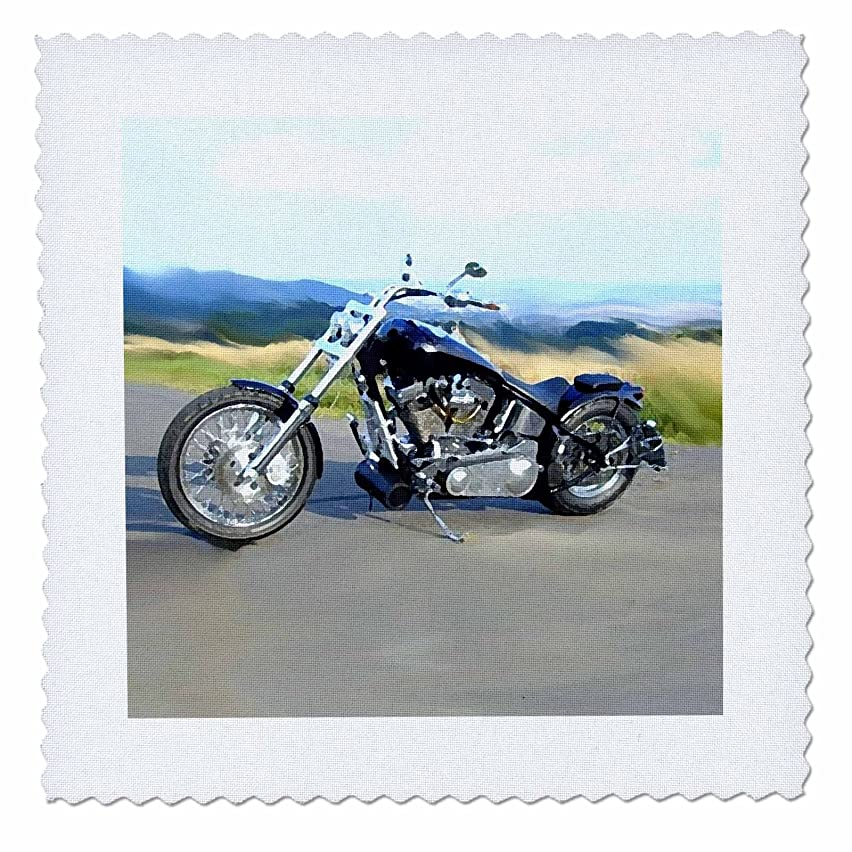 3dRose qs_ 4842_1 Quilt Square Picturing Harley-Davidson No.174 Motorcycle