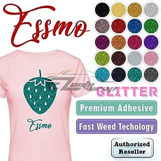 ESSMO Silver Confetti Glitter Heat Transfer Vinyl HTV Sheet T-Shirt 20
