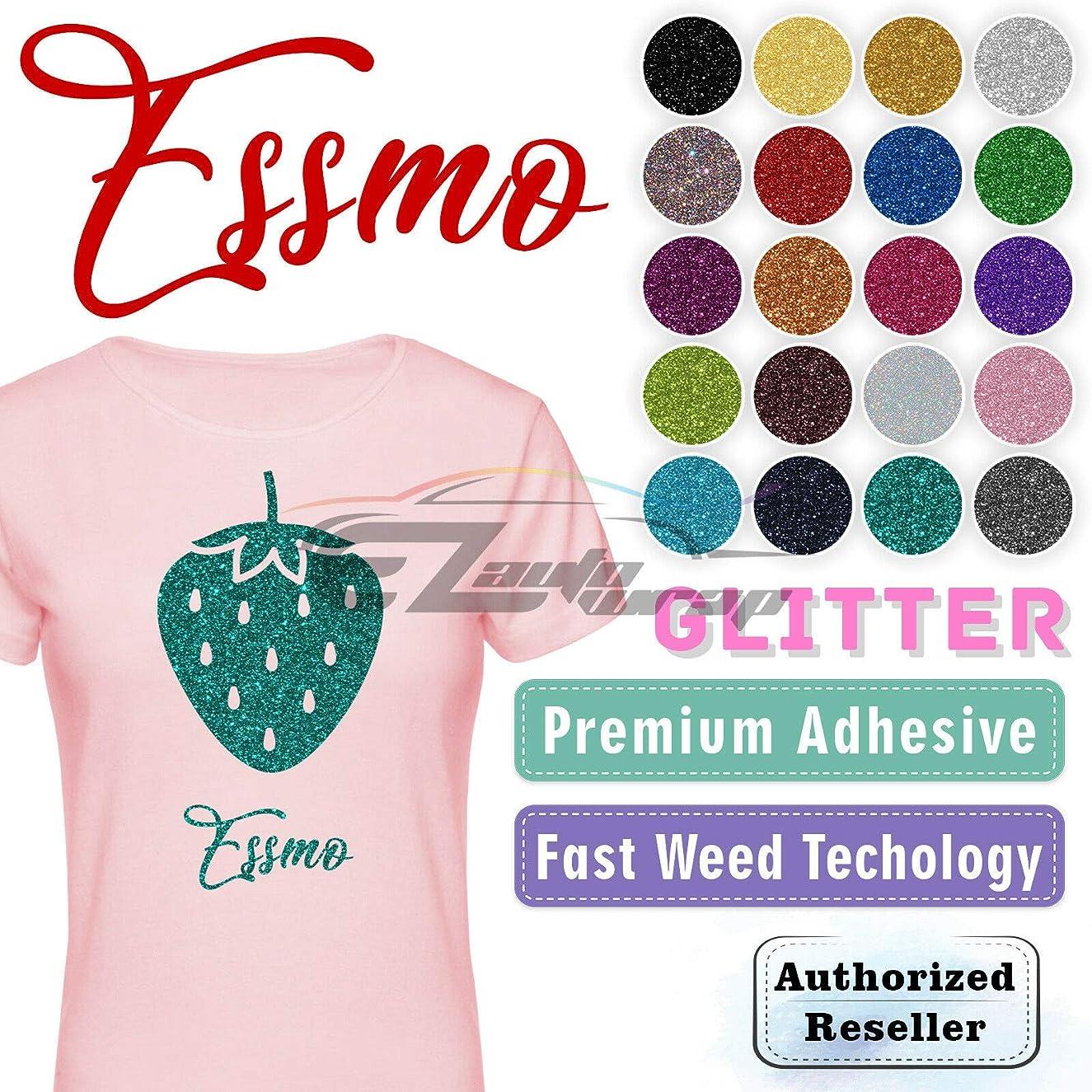 ESSMO Royal Blue Glitter Heat Transfer Vinyl HTV Sheet T-Shirt 20