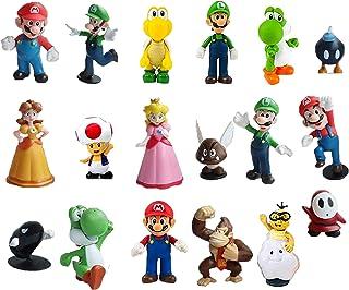 smileh Figuren Super Mario taartdecoratie Mario cupcake figuren voor verjaardag party kinderen 18 stuks