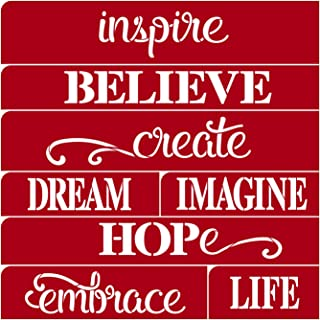 Darice Inspire Believe Dream Word Stencil: 12 X 12