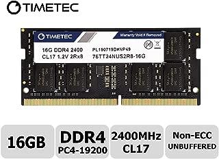 TT-Timetec Hynix IC 16GB ノートPC用メモリ DDR4 2400MHz PC4-19200 1.2V CL17 2Rx8 260pin SODIMM 永久保証(16GB)