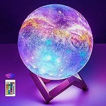 20 cm / 7,9 cala lampa księżycowa duża, OxyLED druk 3D LED gwiaździste niebo księżyc światło ze stojakiem pilot dotykowy i...