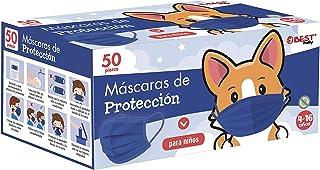 Best Trading 50 Cubrebocas Infantiles Unisex, Tapabocas Tricapa para Niño y para Niña, Calidad Premium con Diseños y Color...