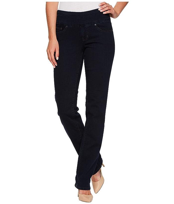 Peri Pull On Denim Straight Leg Jeans