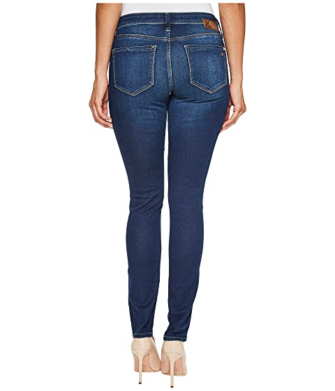 Alexa Dark Mavi Rise Skinny Shanti in Mid Brushed Jeans raUw5YqxU