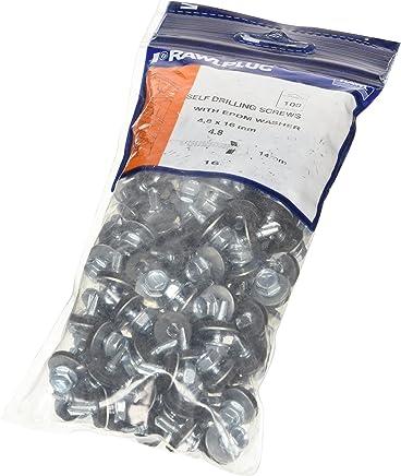 BOZEVON Tornillos Autorroscantes de Metal Tornillos de Madera de Acero Inoxidable Phillips Cabeza Redonda 100 Piezas M2*6 * 5 100 Piezas