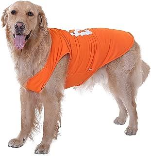 XIHROOM Pet Dog Jersey Golden Retriever Huskies Labrador Large Dog Football Sportswear Vest Dog Summer T-Shirt