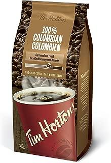 Tim Hortons 100% Colombian Dark Medium Roast Fine Grind Coffee 300g