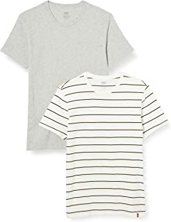 Levi's Men's Slim 2pk Crewneck 1 T-Shirt (Pack of 2)