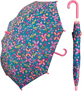 Kid Butterfly Bee Umbrella for girls - Manual Open and Close 32 inch - by Adjore
