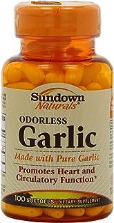 Sundown Odorless Garlic,  Softgels - 100ct. Bottles,  (Pack of 2)