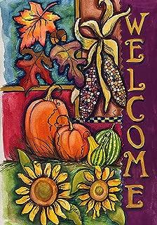 Toland Home Garden Harvest Welcome 28 x 40 Inch Decorative Fall Autumn Pumpkin House Flag