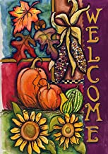 Toland Home Garden Harvest Welcome 28 x 40 Inch Decorative Fall Autumn Pumpkin House Flag