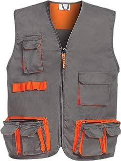 Heavy-Duty Dark Grey//Black//Orange DINOZAVR Atlas Mens Work Bib and Brace Overalls