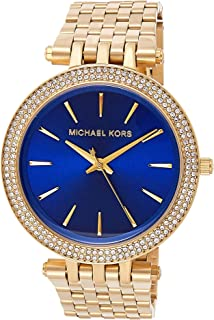 Michael Kors Womens Quartz Watch, Analog Display and Stainless Steel Strap