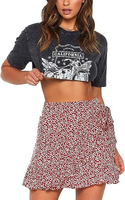 red boho skirt