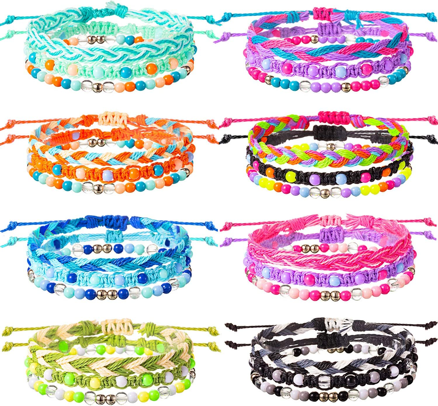 Spring new work one after another VSCO Bracelets 24 Pieces Houston Mall Stretch St Friendship Braided
