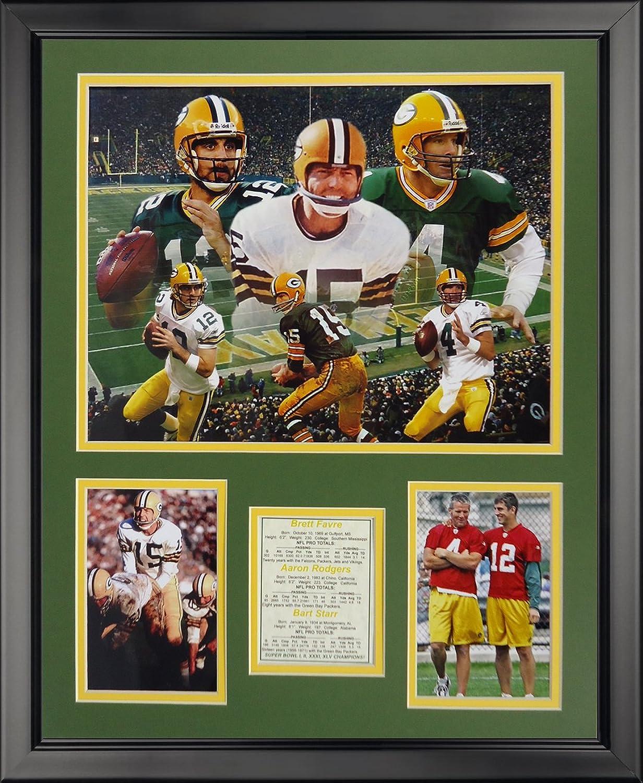 Legends Never Die Green Bay Packers  Packer Quarteracks Framed Photo Collage, 16  x 20