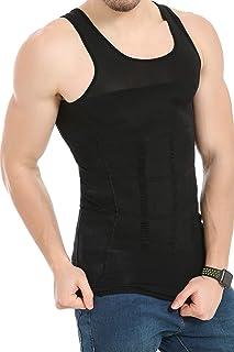 JQ JQAMAZING Mens Slimming Body Shaper Vest Abdomen Slim Shirt Compression Tank Shaperwear