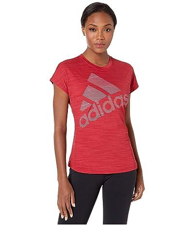 adidas Badge Of Sport Logo Tee (Active Maroon) Women
