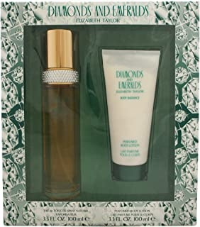 Diamonds & Emeralds By Elizabeth Taylor For Women. Set-EDT Spray 3.3 Ounces & Body Lotion 3.3 Ounces