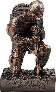 Ebros Gift Battlefield Kneeling Soldier Statue 8.5