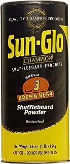 Sun-Glo Speed #3 Shuffleboard Table Powder Wax Bundled with a Sun-Glo Shuffleboard Sweep
