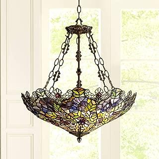 Floral Garden 3-Light Tiffany Glass Bowl Pendant - Robert Louis Tiffany