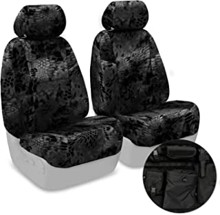 Coverking Front 50/50 Sport Bucket Custom Fit Tactical Seat Cover with Integrated Molle Storage for Select Ram 1500/2500 Models - Cordura Ballistic (Kryptek Typhon Camo)