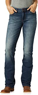 Wrangler Women's Willow Mid Rise Boot Cut Ultimate Riding Jean Jeans para Mujer