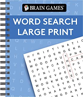 Brain Games - Word Search Large Print (Blue)