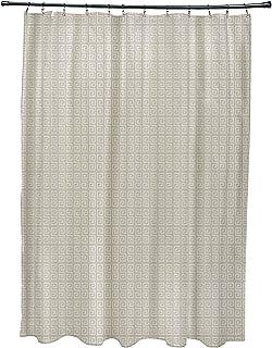 Ebydesign SG-N81-Oatmeal_Flax Geometric Shower Curtain, Oatmeal Flax