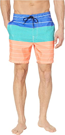 Variegated Stripe Swim Trunks