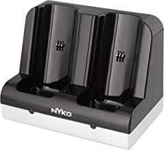 Nyko Charge Station - 2 Port Controller Charging Station with 2 Rechargeable Battery Packs for Wii and Wii U