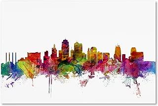 Kansas City Skyline by Michael Tompsett, 30 x 47