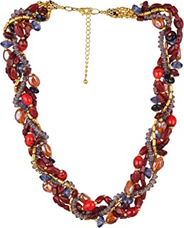 Dca Red Glass Necklace for Women (4456)