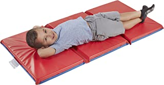 ECR4Kids Premium 3-Fold Daycare Rest Mat, Blue and Red (2