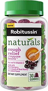 Robitussin Naturals Cough Relief & Immune Health Gummies 30ct with Ivy Leaf & Vitamin C
