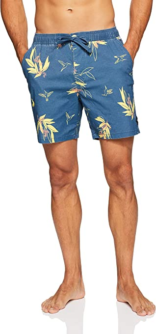 The Critical Slide Society Men's Golden Hours Board Short, Blue Steel
