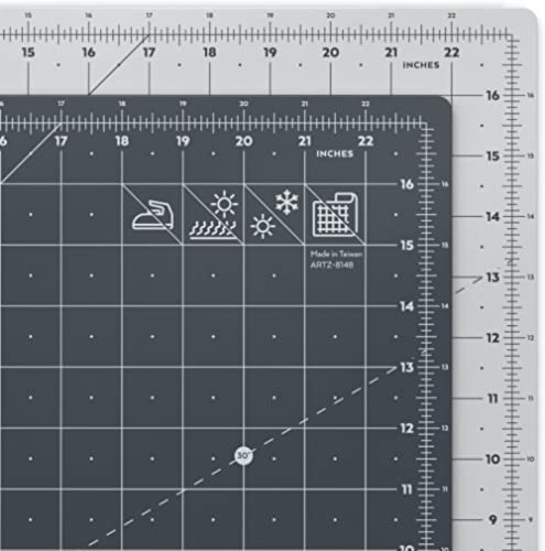 """ARTEZA Self Healing Rotary Cutting Mat, 18""""x24"""" with Grid & Non Slip Surface for Fabric, Paper, Vinyl, Plastic, Eco F..."""