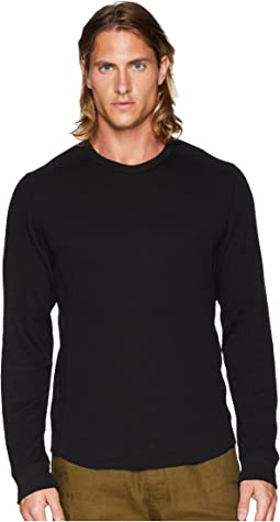 Raw Edge Long Sleeve Crew Neck
